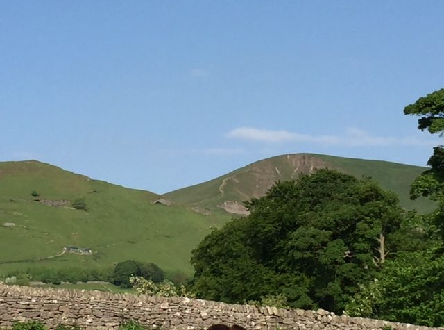 View of Mam Tor from Speedwell Field dog friendly accommodation in castleton